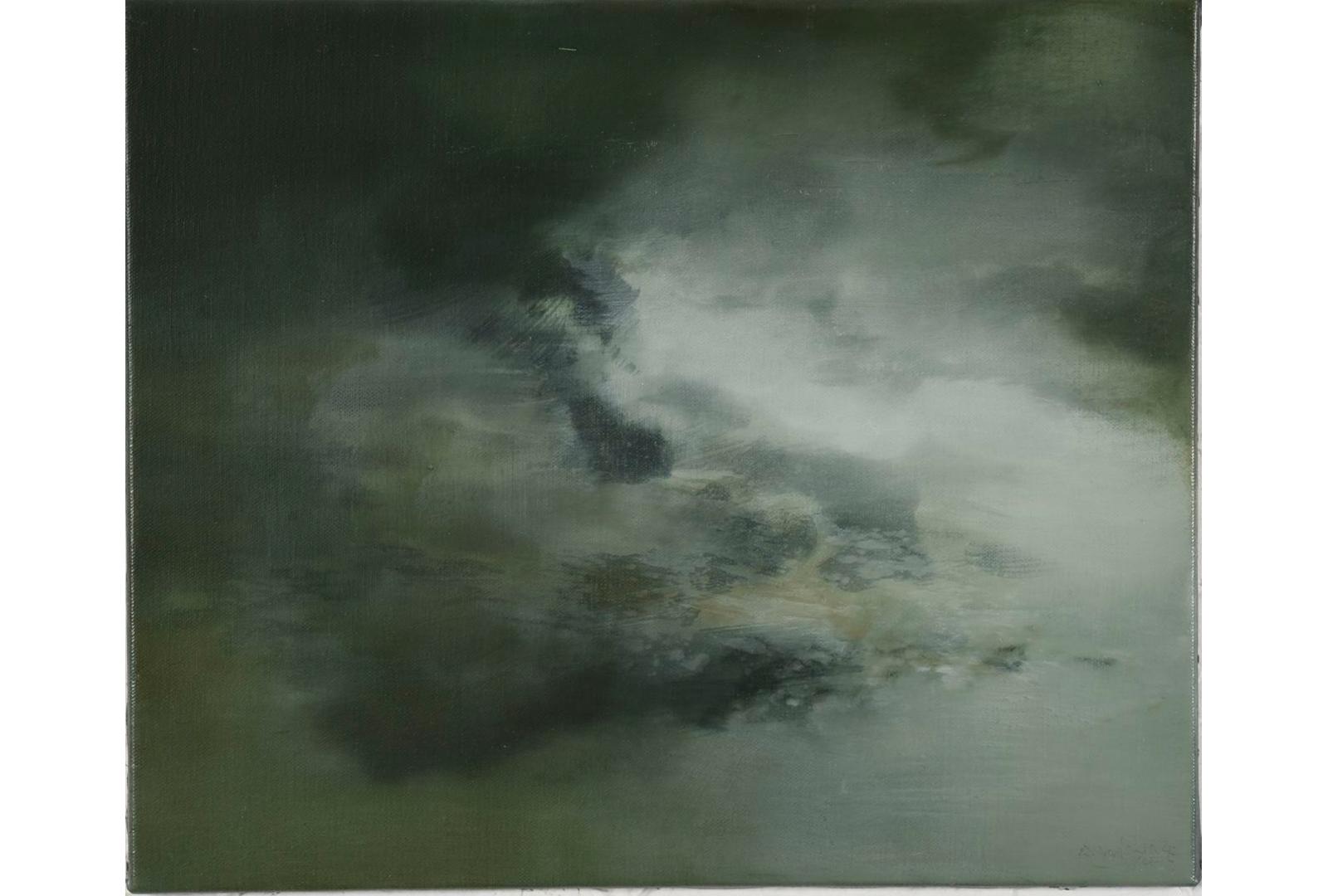 Regarder-le-ciel-2015-huile-s-toile-40x50cm